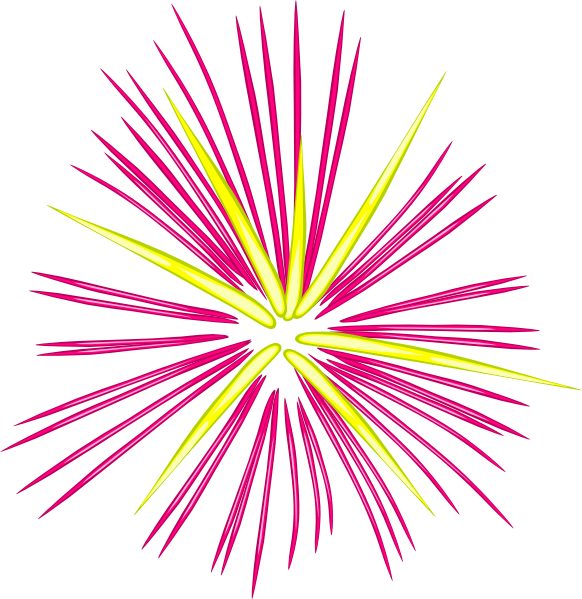 Yellow spark clipart picture transparent Pink And Yellow Sparks Clip Art at Clker.com - vector clip ... picture transparent