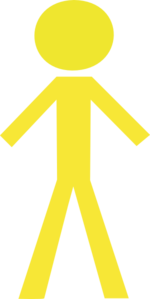 Yellow stick figure clipart banner royalty free library Stick Man Yellow 2 Clip Art at Clker.com - vector clip art ... banner royalty free library