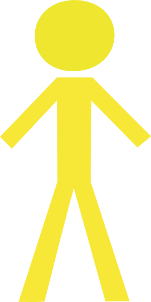 Yellow stick figure clipart banner royalty free stock Stick Man Yellow 2 Clip Art at Clker.com - vector clip art ... banner royalty free stock