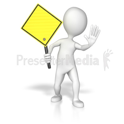 Yellow stick figure clipart png royalty free download Stick Figure Holding A Yellow Sign - Presentation Clipart ... png royalty free download