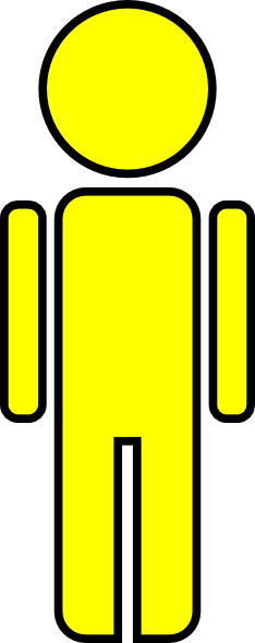 Yellow stick figure clipart stock Stick Figure Man Yellow Clip Art at Clker.com - vector clip ... stock