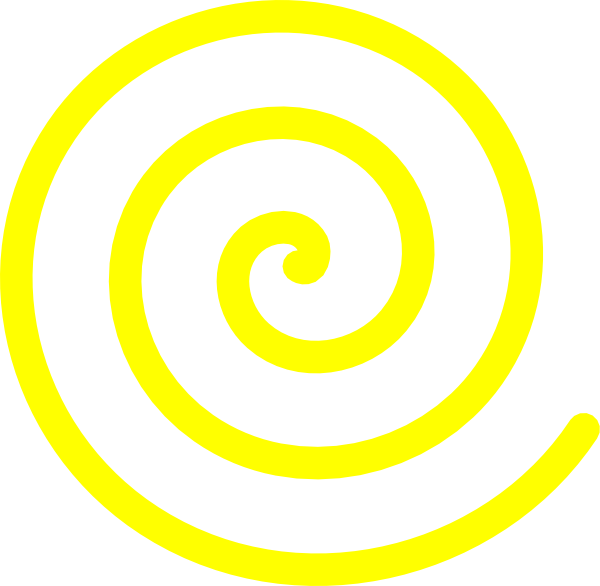 Yellow sun spiral clipart picture black and white stock Yellow Spiral Clip Art at Clker.com - vector clip art online ... picture black and white stock