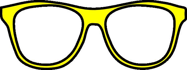 Yellow sunglasses clipart clipart transparent stock Sunglasses yellow gratitude glasses clip art at vector ... clipart transparent stock