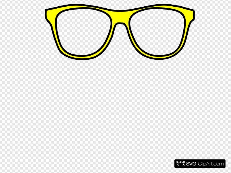 Yellow sunglasses clipart clip free stock Yellow Glasses Clip art, Icon and SVG - SVG Clipart clip free stock