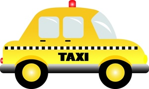 Yellow taxi clipart vector transparent stock Free Taxi Clipart Image 0515-1005-2304-4348 | Car Clipart vector transparent stock