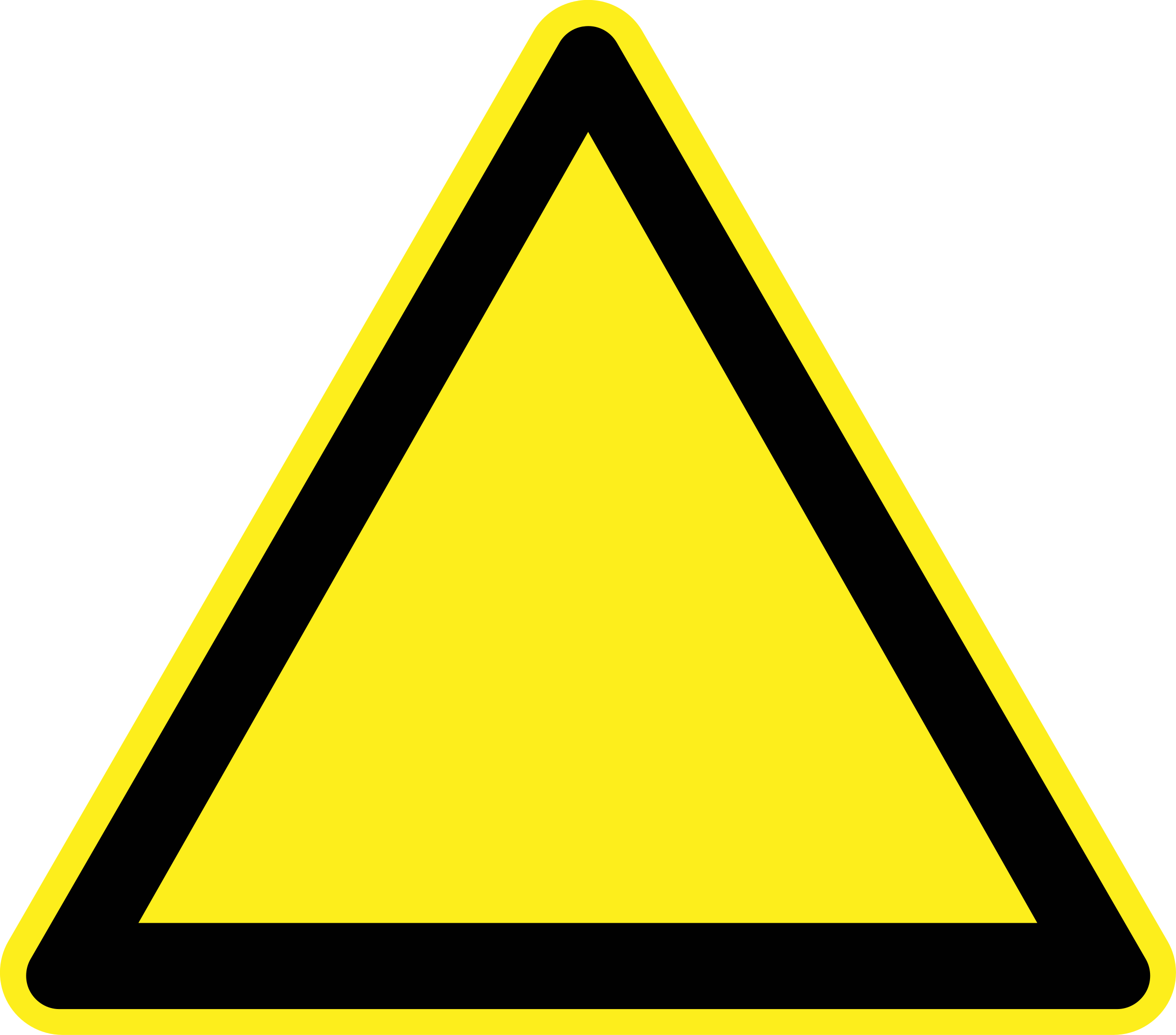 Yellow triangle clipart vector black and white Warning Sign Clipart   Free download best Warning Sign ... vector black and white
