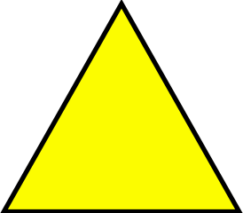 Yellow triangle clipart svg freeuse stock File:Yellow triangle.svg - Wikipedia svg freeuse stock
