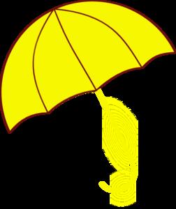 Yellow umbrella clipart image freeuse stock Yellow Umbrella Clip Art at Clker.com - vector clip art ... image freeuse stock