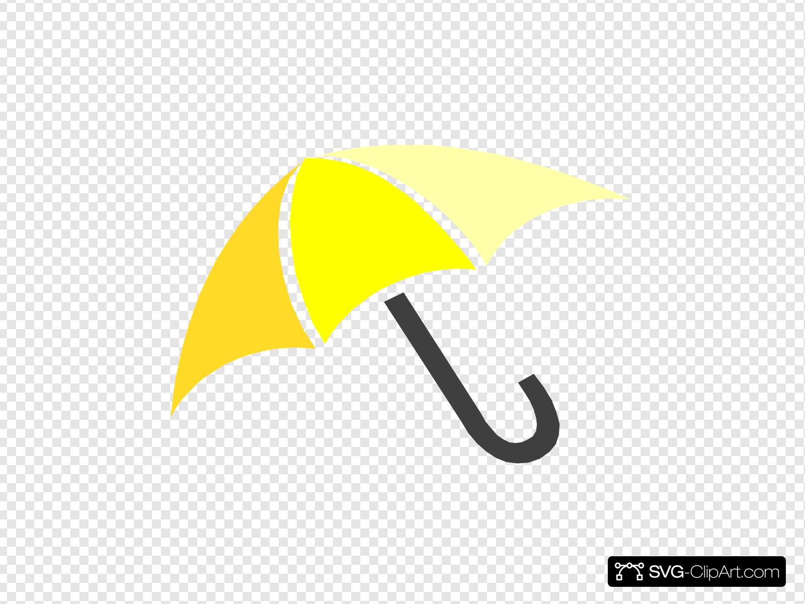 Yellow umbrella clipart picture freeuse library Yellow Umbrella Clip art, Icon and SVG - SVG Clipart picture freeuse library