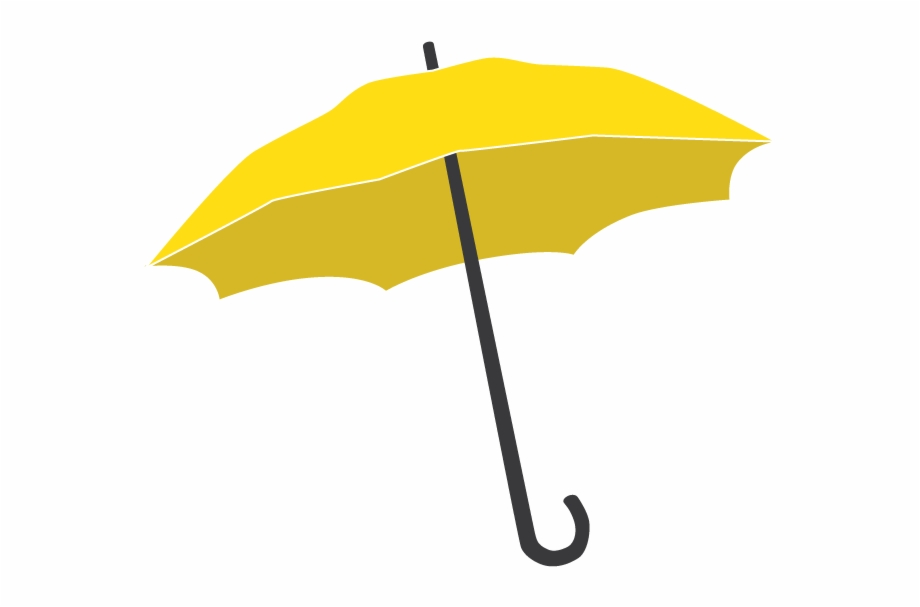 Yellow umbrella clipart transparent