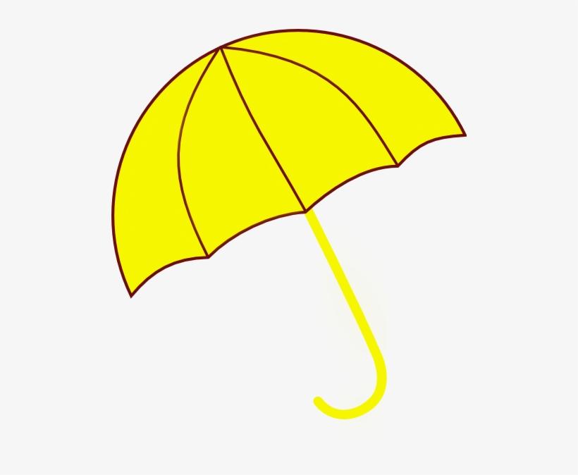 Yellow umbrella clipart transparent black and white library Umbrella Clipart Seven - Yellow Umbrella Cartoon Png PNG ... black and white library
