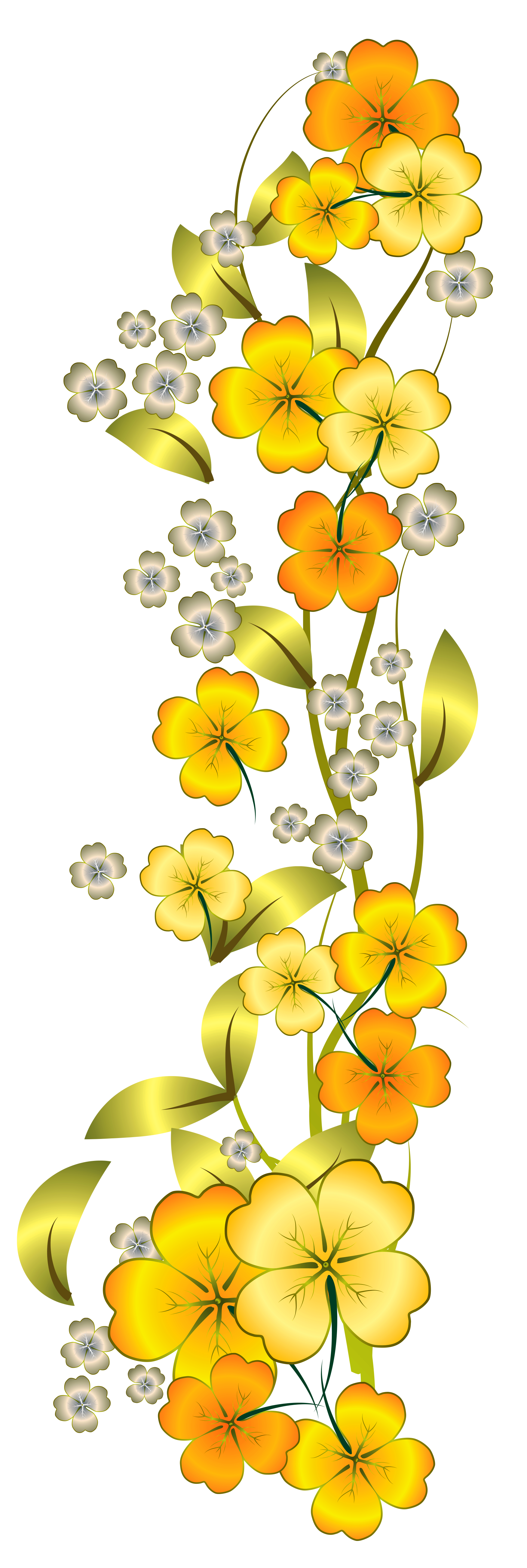 Yellow watercolor stitched flowers clipart picture royalty free Pin by Best Fiends on Best Fiends Themed DECOR! | Yellow ... picture royalty free