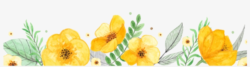 Yellow watercolor stitched flowers clipart picture freeuse library Orange Flower PNG Images | PNG Cliparts Free Download on SeekPNG picture freeuse library