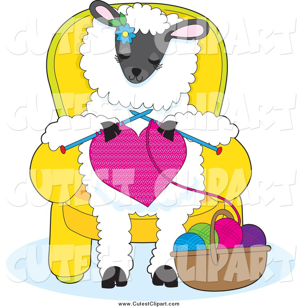 Yellow yarn stitch clipart vector transparent library sheep and yarn clipart | Cartoon Vector Clip Art of a Cute ... vector transparent library