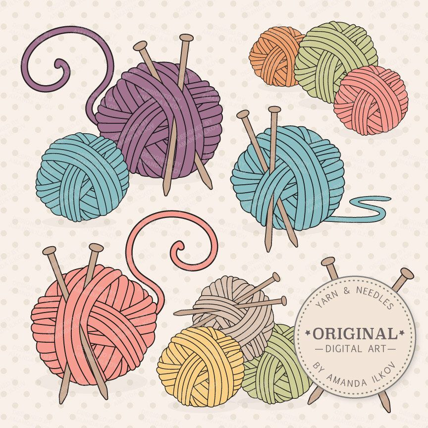 Yellow yarn stitch clipart png freeuse Premium Knitting Clipart & Vectors - Knitting Clip Art ... png freeuse