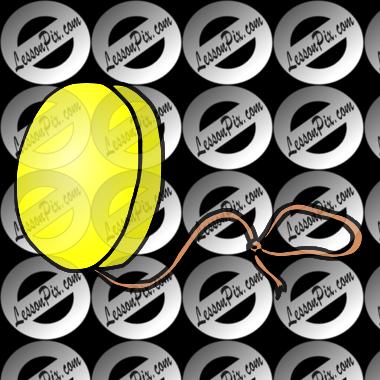Yellow yoyo clipart