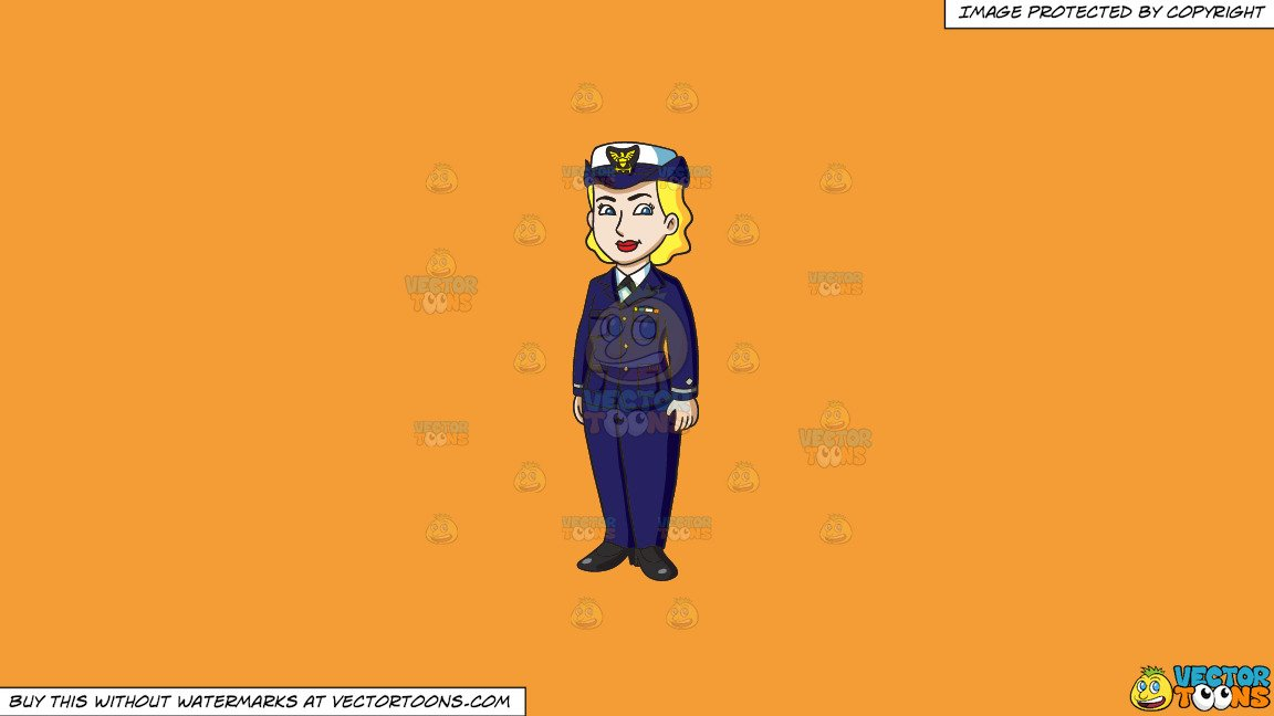 Yellows and blues background clipart jpg free Clipart: A Female Us Coast Guard In Service Dress Blues on a Solid Deep  Saffron Gold F49D37 Background jpg free