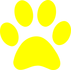 Yellows and blues background clipart vector transparent stock Blues Clues Yellow Paw Clip Art at Clker.com - vector clip ... vector transparent stock