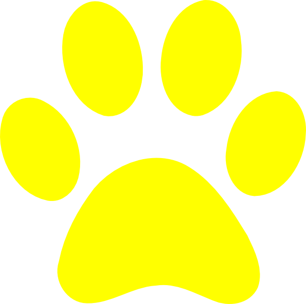 Yellows and blues background clipart image Blues Clues Paw Print Clipart   Free download best Blues ... image