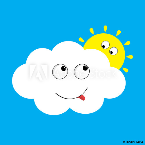 Yellows and blues background clipart svg free library White cloud and yellow sun set looking to each other ... svg free library