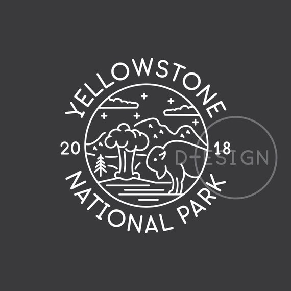 Yellowstone mountain clipart silhouette svg free stock Yellowstone National Park Est. 1872 SVG, Yellowstone ... svg free stock