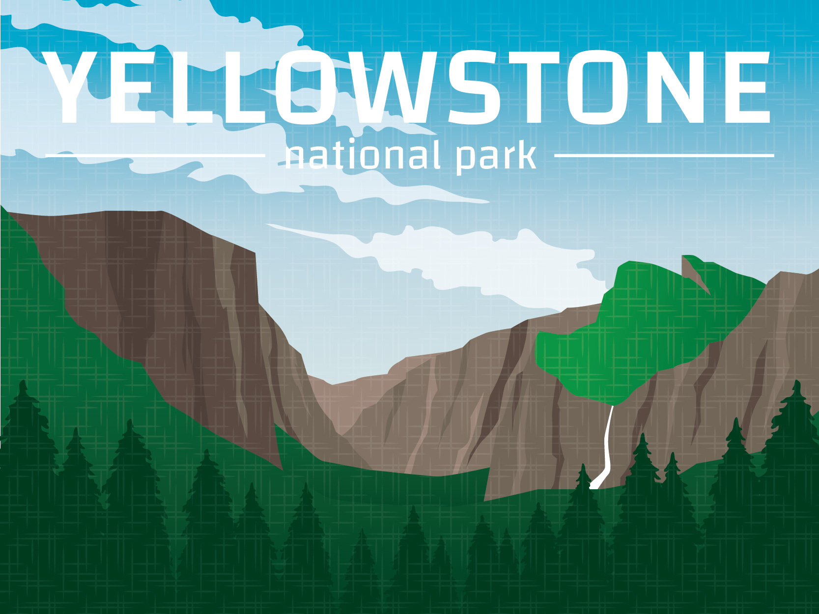 Yellowstone mountain clipart silhouette clip free library Yellowstone National Park Free Vector Art - (3 Free Downloads) clip free library