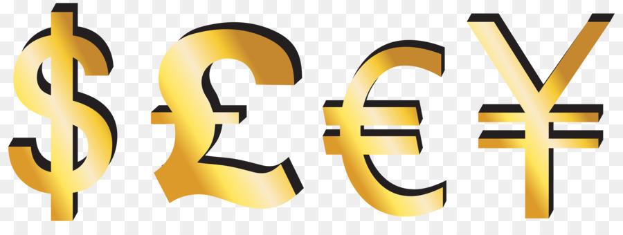 Yen symbol clipart clip freeuse library Euro Sign clipart - Money, Yellow, Text, transparent clip art clip freeuse library