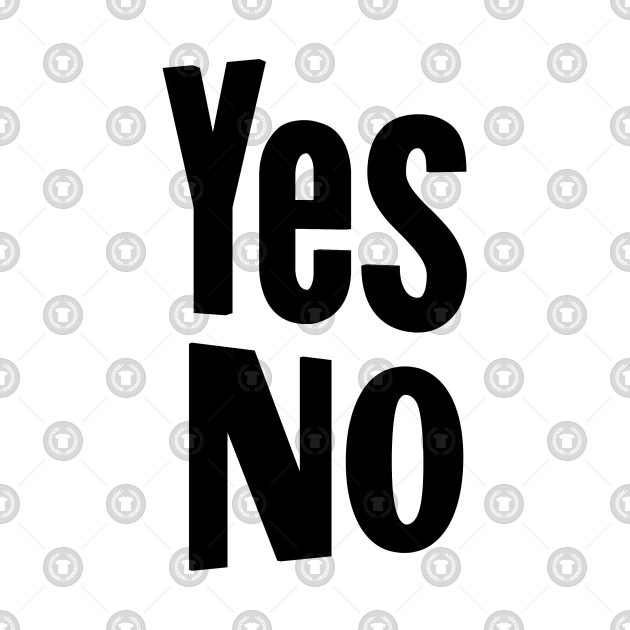 Yes or no black and white clipart picture transparent library Yes No picture transparent library