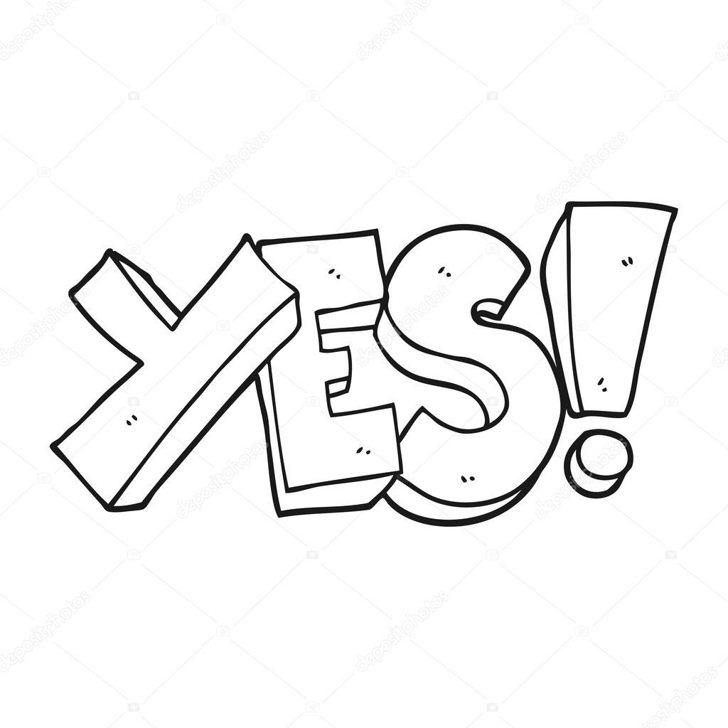 Yes or no black and white clipart jpg stock Yes clipart black and white 4 » Clipart Portal jpg stock