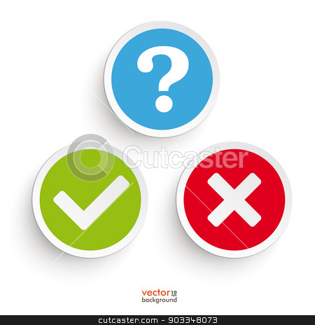 Yes no icon clipart svg freeuse download Question Yes No Round Icons stock vector svg freeuse download