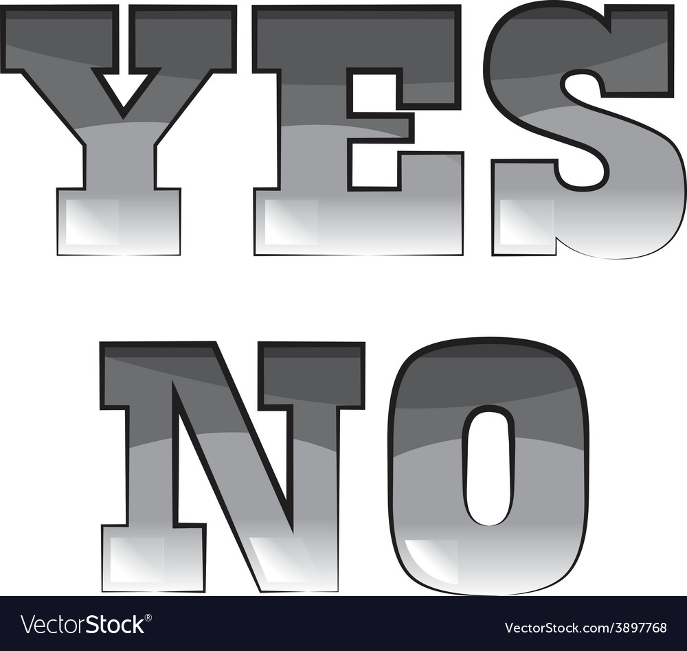 Yes or no black and white clipart transparent library Black and white words yes and no transparent library