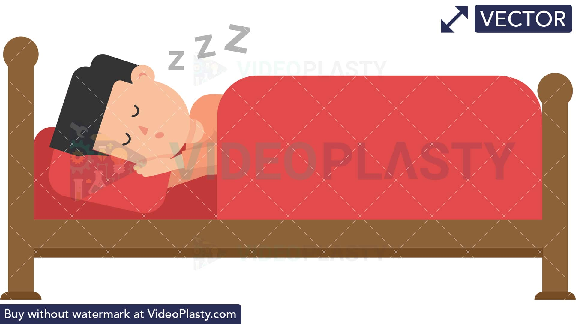 Yes sleep clipart clip art free download Man Sleeping in Bed [VECTOR] clip art free download