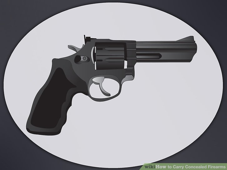Yes to concealed carry clipart picture black and white library How to Carry Concealed Firearms: 6 Steps (with Pictures ... picture black and white library