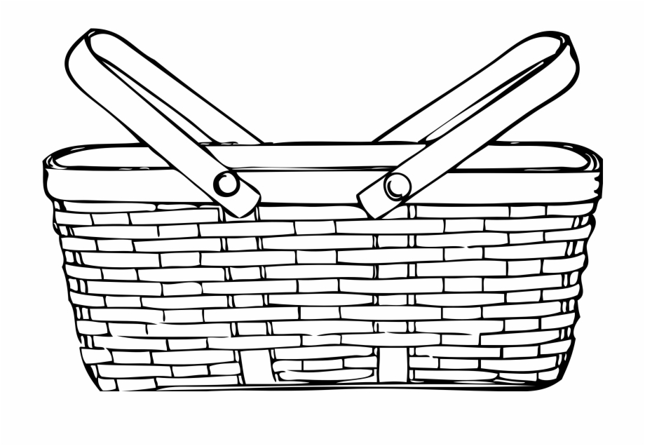 Yeshivah clipart jpg black and white Clipart Basketball Outline - Picnic Basket Clip Art Free PNG ... jpg black and white