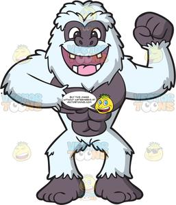 Yeti clipart images clip royalty free An Excited Strong Yeti clip royalty free
