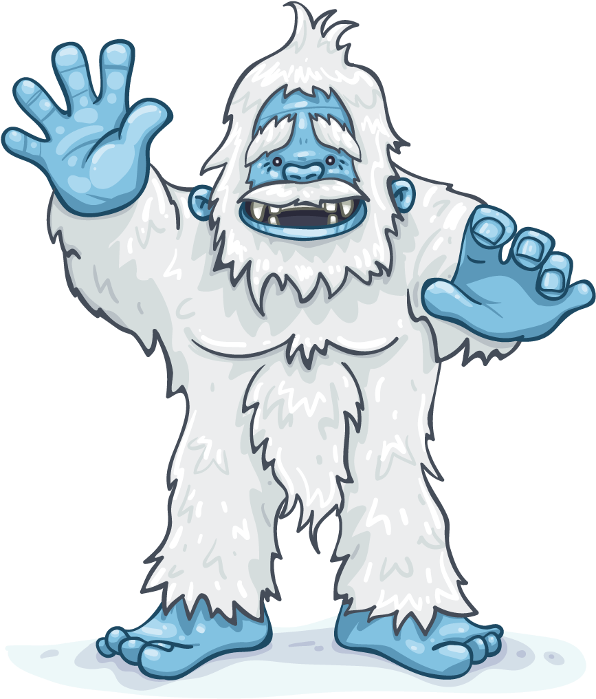 Yeti clipart images png royalty free library Cartoon,Illustration,Clip art,Fictional character,Jaw,Line ... png royalty free library