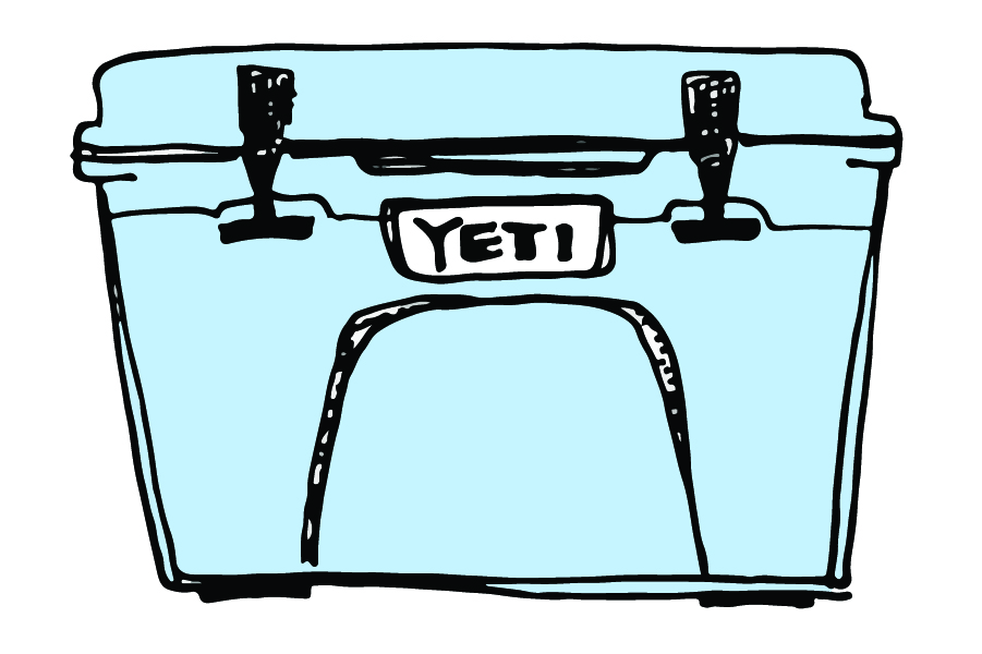 Yeti cooler clipart vector Blog — Nomadlyweds vector