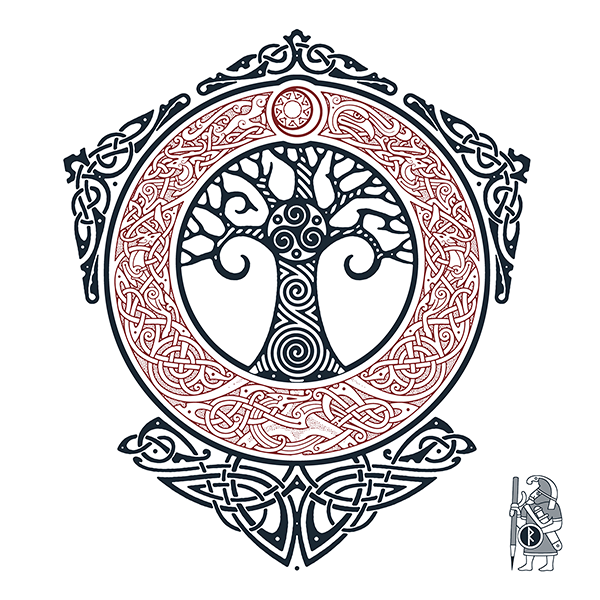 Yggdrasil tattoo clipart png freeuse library YGGDRASIL.TREE OF LIFE. Knotwork Tattoo design by RAIDHO ... png freeuse library