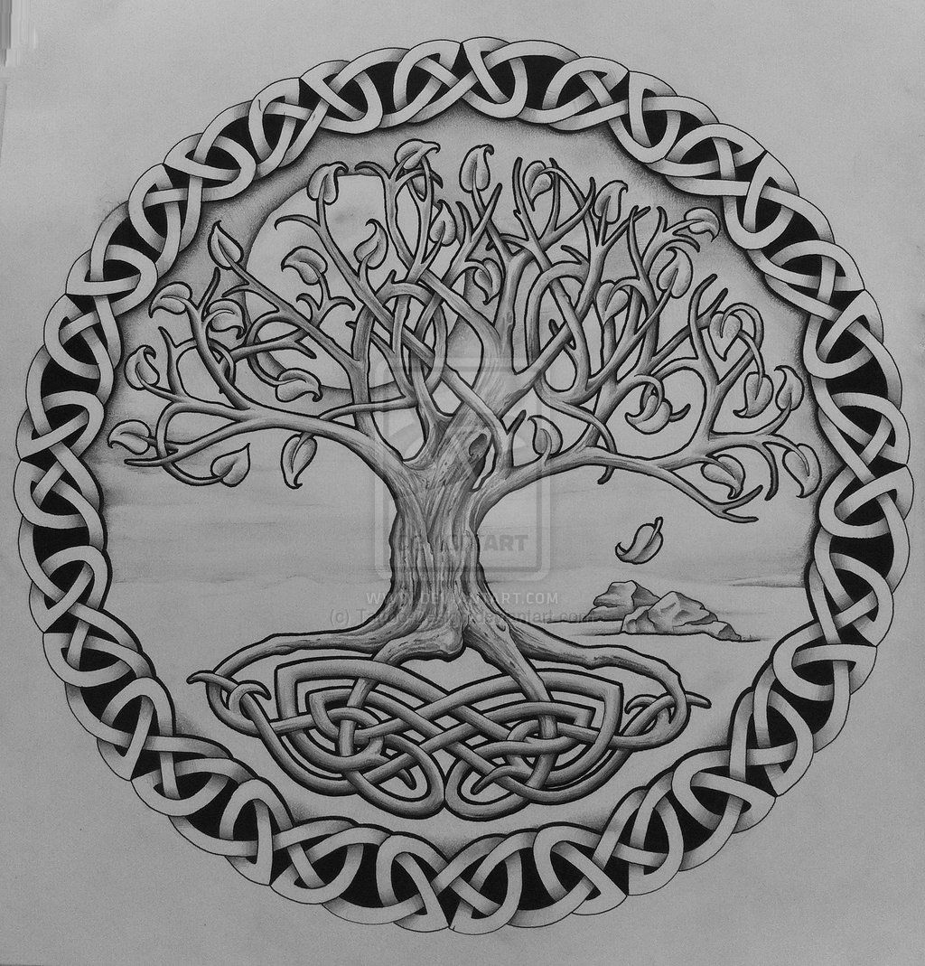 Yggdrasil tattoo clipart transparent stock Celtic Oak Tree Tattoo | tree of life with rocks by tattoo ... transparent stock