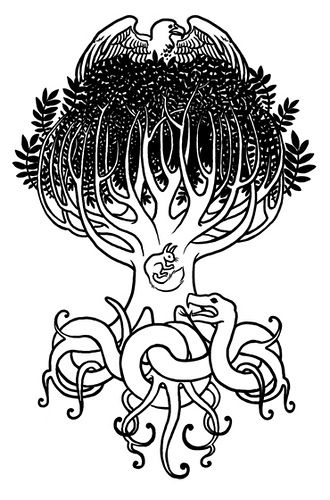 Yggdrasil tattoo clipart png transparent library Yggdrasil Tattoo | Tattoo Ideas | Yggdrasil tattoo, Viking ... png transparent library