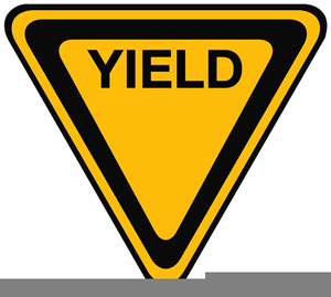 Yield sign clipart free svg royalty free library Clipart Yellow Yield Sign | Free Images at Clker.com ... svg royalty free library