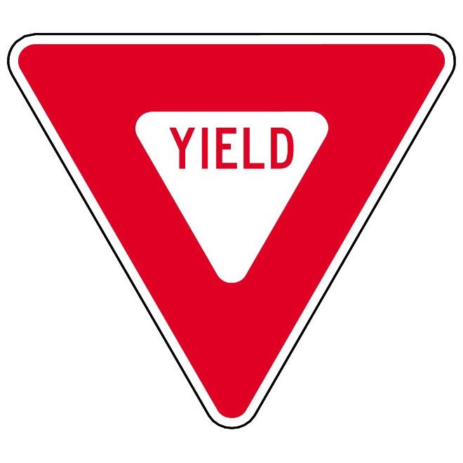 Yield sign clipart free png royalty free stock YIELD SIGN - Free vector image in AI and EPS format. png royalty free stock
