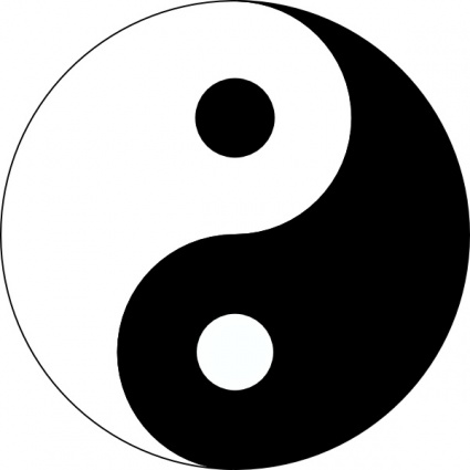 Yin yang clipart freeware