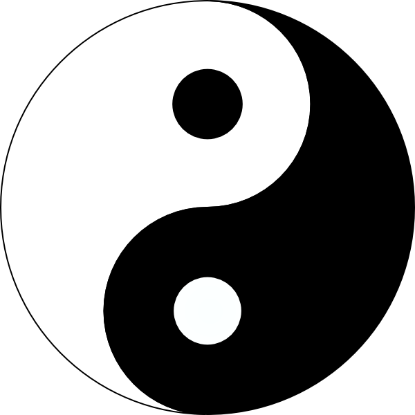 Yinyang clipart png black and white library large free printable tattoo designs | ... Yang 3 clip art ... png black and white library