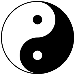 Yin yang sun and moon transparent clipart png freeuse download Yin and yang - Wikipedia png freeuse download