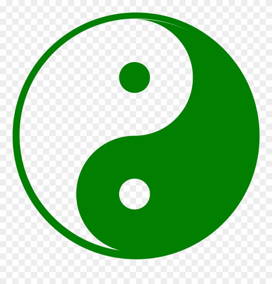 Yin yang image clipart freeuse download Big Image - Green Yin And Yang Pdf Clipart (#575551 ... freeuse download