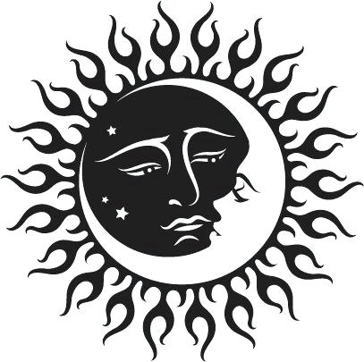 Yin yang sun and moon transparent clipart image free stock Sun And Moon Drawing Black And White | Free download best ... image free stock