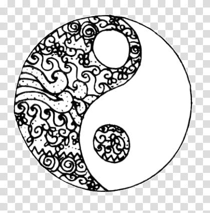 Yin yang sun and moon transparent clipart png library stock Doodles and Drawing , Yin Yang logo transparent background ... png library stock