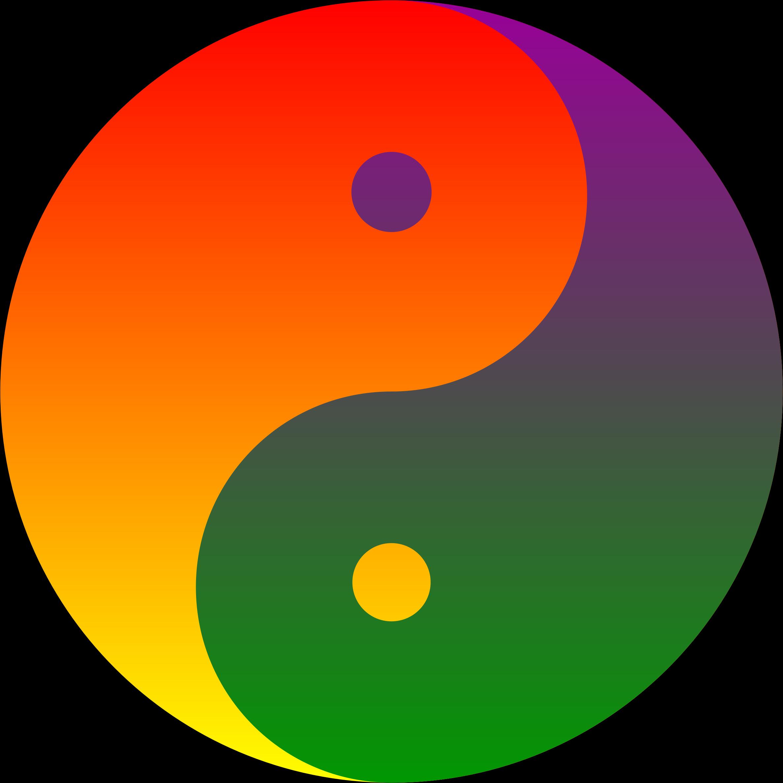 Yin yang sun free clipart clip art black and white stock Clipart - Rainbow Blend Yin-Yang | Ying Yang symbols | Pinterest ... clip art black and white stock