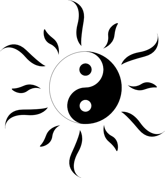 Yin yang sun free clipart picture freeuse download Sun Yang Clip Art at Clker.com - vector clip art online, royalty ... picture freeuse download